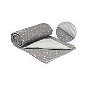 Одеяло Руно двуспальное 172*205 см бязь/хлопковое волокно легкое серое арт.316.02ХБУ_Grey
