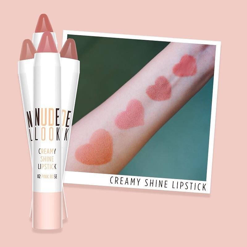 Помада-карандаш Golden Rose  Nude Look Creamy Shine Lipstick №02, фото 2