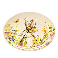 """Керамическая тарелка """"Милый кролик"""" 24 см пасхальная коллекция"""