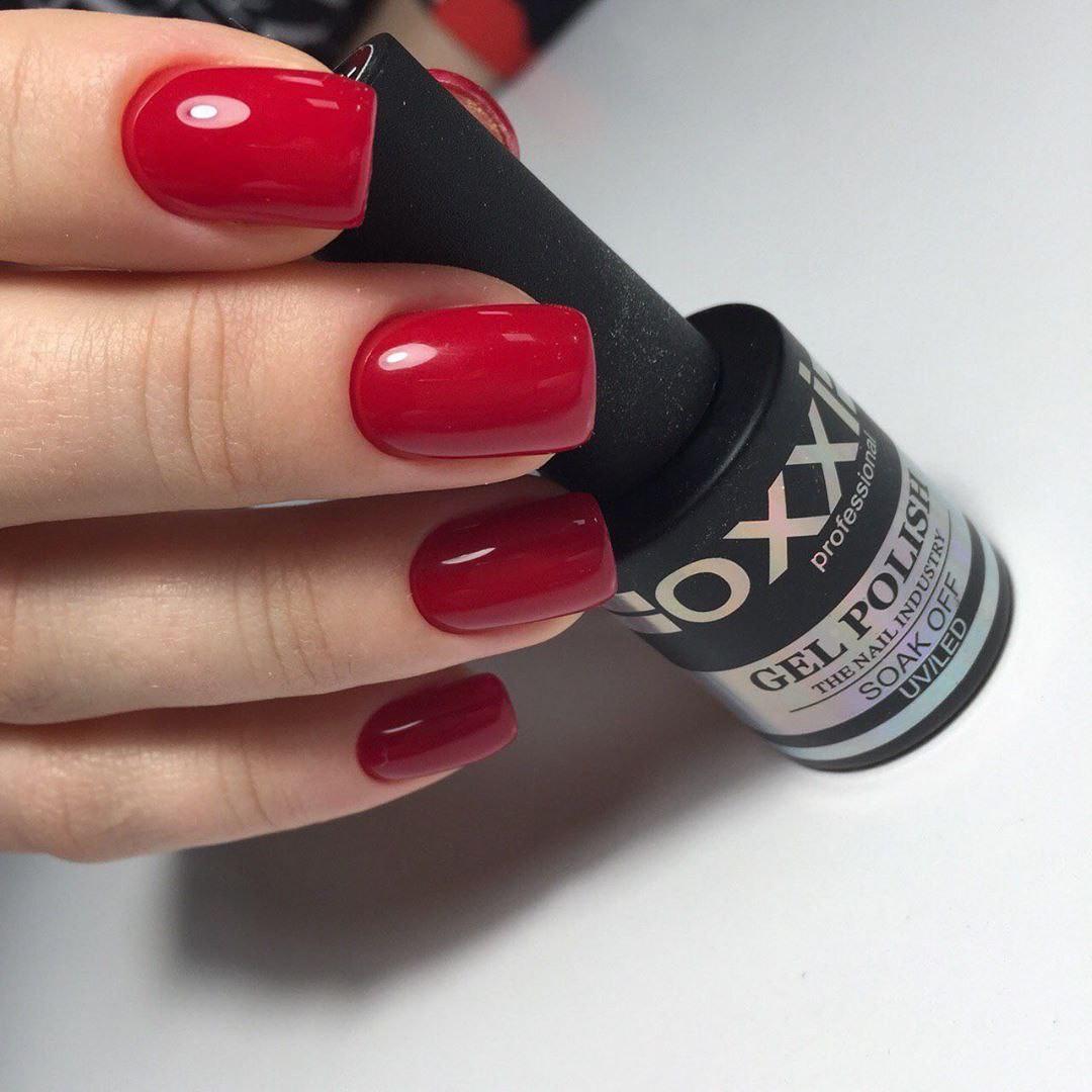 Гель лак Oxxi № 172 (темный красный, эмаль), 8 мл