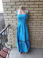 Платье, сарафан коттоновый длинный, в пол, есть большие размеры ONE SHE, Турция
