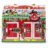 Развивающая игрушка Melissa&Doug Домик-сарай с задвижками и животными (MD2564)