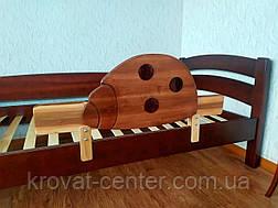 """Детская кровать из дерева с защитным бортиком """"Марта"""" (итальянский орех) от производителя, фото 3"""
