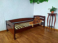 """Детская кровать из дерева с защитным бортиком """"Марта"""" (итальянский орех) от производителя"""