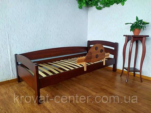 """Детская кровать из дерева с защитным бортиком """"Марта"""" (итальянский орех) от производителя, фото 2"""