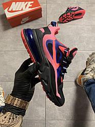 Женские кроссовки Nike Air Max 270 React Black Pink (черно-розовые)