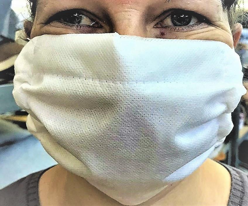 Многоразовая маска 6-х слойная марлевая повязка с флизелиновым слоем д