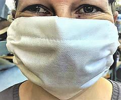 Многоразовая маска 6-х слойная марлевая повязка с флизелиновым слоем для многократной стирки
