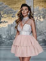 Многослойное платье. Вечернее платье. Женская нарядная одежда