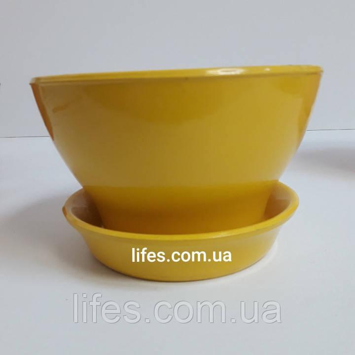 Фиалочница керамическая желтая КС16