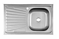 Мойка для кухни. Сушка слева 50*80 0.4mm