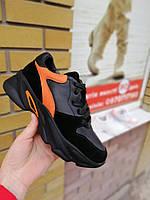 Кроссовки женские черные кожаные. Женская обувь.