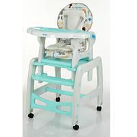 Детский стульчик-трансформер для кормления M 1563 Animal Mint