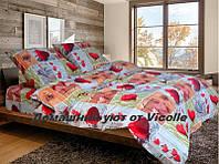 """Комплект постельного белья """"Сердечки"""" GOLD-Люкс Бязь ГОСТ 140г м2."""