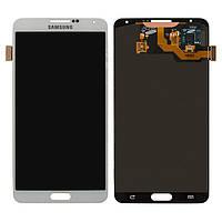 Дисплейный модуль (дисплей + сенсор) для Samsung Galaxy Note 3 N900, белый, оригинал