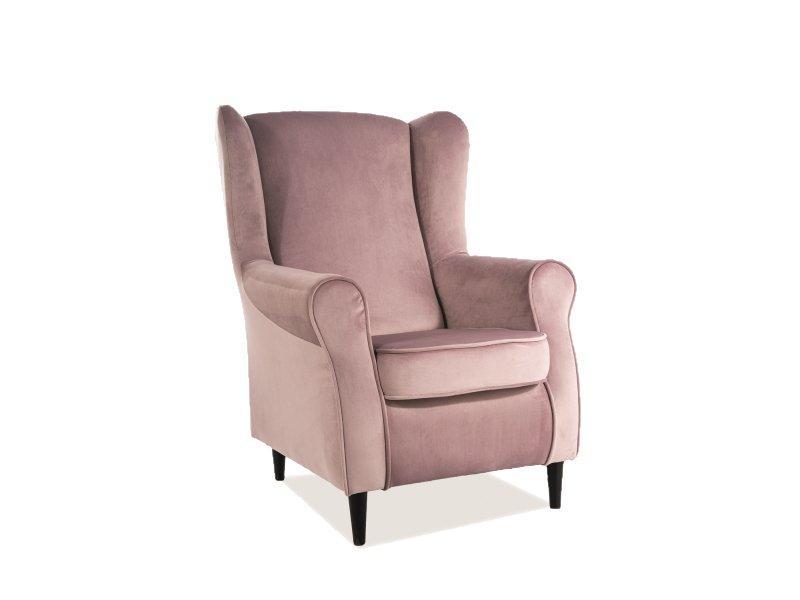 Кресло Baron Velvet SIGNAL Bluvel 52 - античный розовый