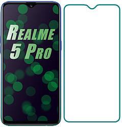 Защитное стекло Realme 5 Pro (Прозрачное 2.5 D 9H) (Реалми 5 Про)