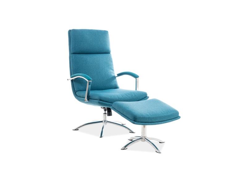 Кресло с подставкой для ног Jefferson SIGNAL бирюзовый