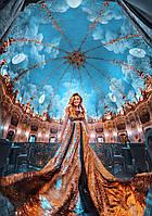 Платье-макси золотистого цвета. Вечернее платье. Женская праздничная одежда