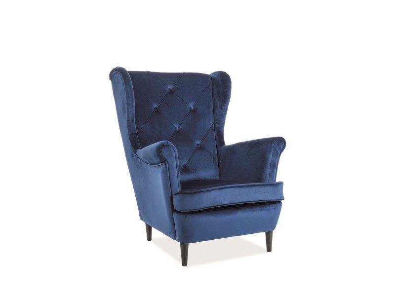 Кресло Lady Velvet SIGNAL Bluvel 86 - синий