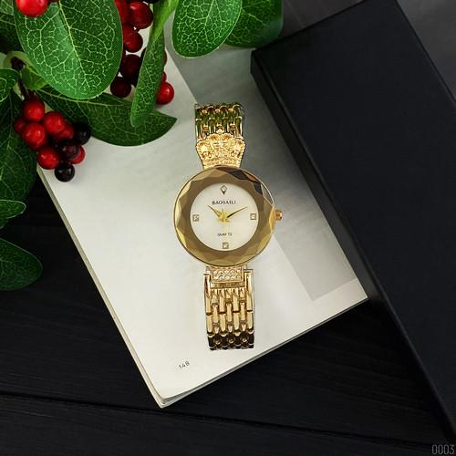 Часы кварцевые мужские Baosaili Gold-White
