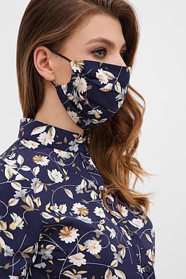 Маска для обличчя захисна тканинна двошарова багаторазова