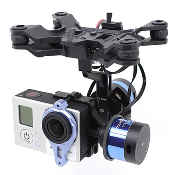 Подвес двухосевой гиростабилизированный Tarot Т-2D для камер GoPro (TL68A00)