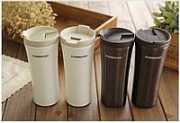 Термос чашка Starbucks Smart Cup №1 темное серебро