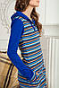 Женский трикотажный костюм для дома двойка синий Bono, фото 2