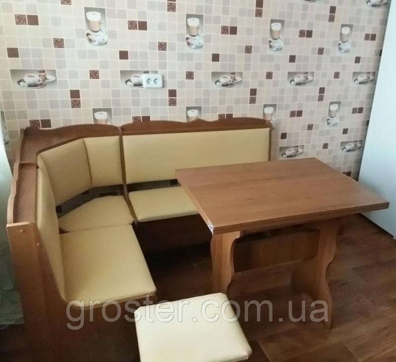 Кухонный уголок Лорд с раскладным столом +2табурета