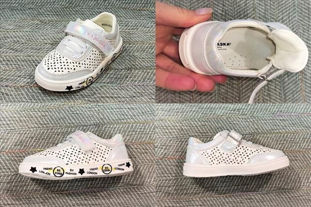 Дитячі кросівки з перфорацією дівчинка, Казка фото