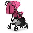 Коляска детская «Bambi» M 4249 Pink, прогулочная, книжка,корзина, чехол, розовая, фото 4