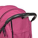 Коляска детская «Bambi» M 4249 Pink, прогулочная, книжка,корзина, чехол, розовая, фото 8