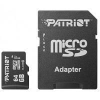 Карта памяти Patriot 64GB microSD class10 UHS-1 (PSF64GMCSDXC10)