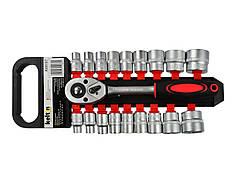 """Торцевые ключи с трещоткой 8-32 мм 1/2"""" 19эл. KELTIN K00107"""