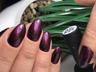 Гель-лак Oxxi Сat Eyes №174 светлый фиолетовый,10 мл