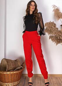 Стильные вельветовые брюки с карманами