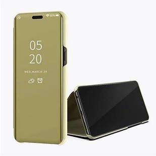 Чехол Mirror для Samsung M30S 2019 / M307F книжка Зеркальная Золотой