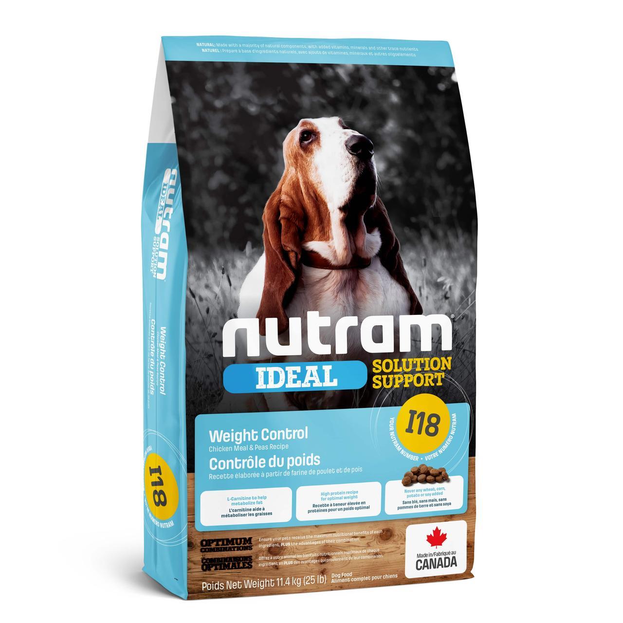 Корм для собак NUTRAM I18  холистик  склонных к ожирению с курицей 2 КГ