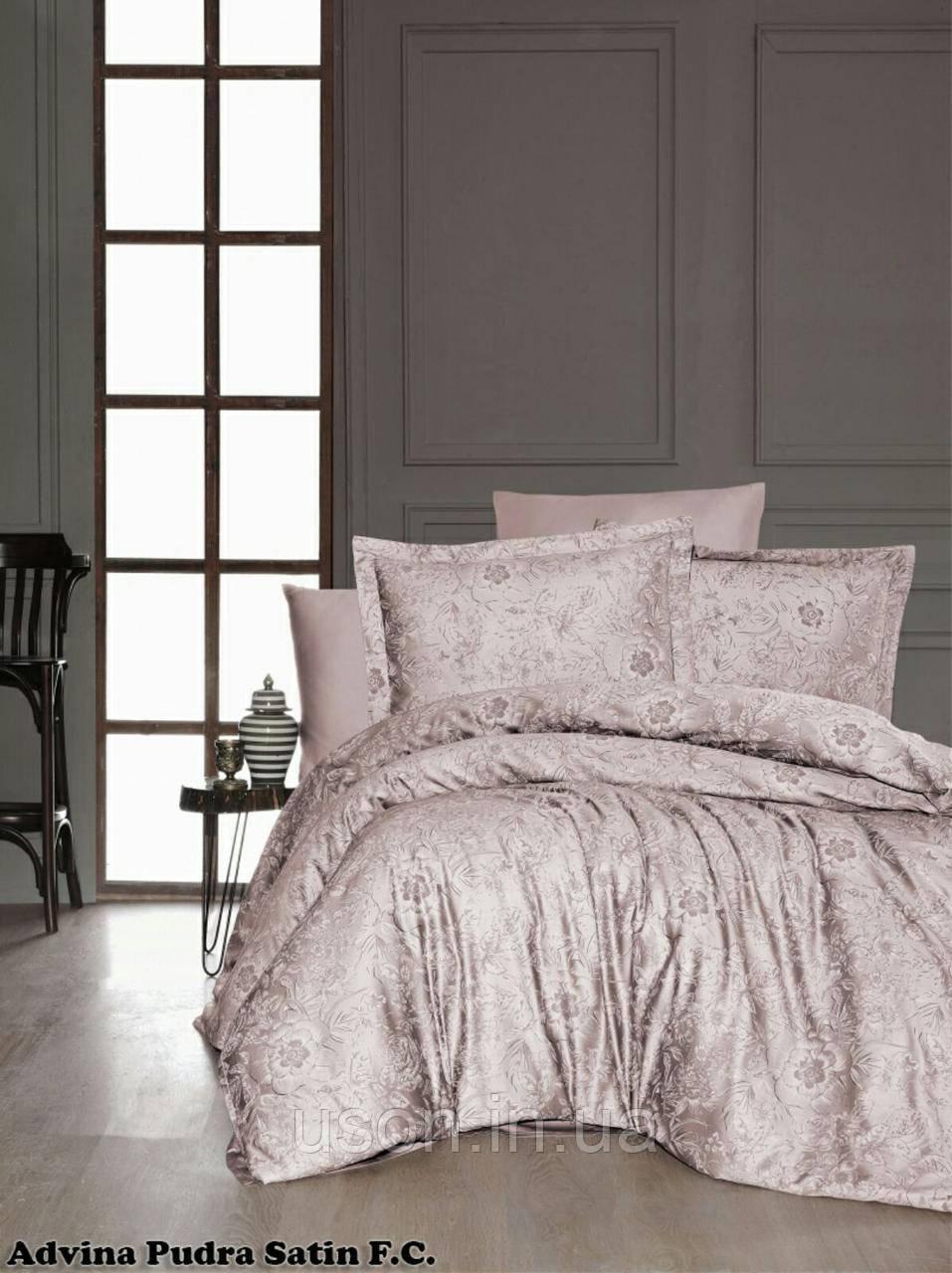 Комплект постельного белья сатин First Choice Advina Pudra
