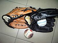 Рукавичка-пастка бейсбольна пастка штучна кожа11,5 унцій колір чорний