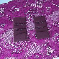 Застібка для бюсгальтер тканинна 30мм, Марсала