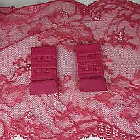 Застібка для бюсгальтер тканинна 30мм, Рожевий темний