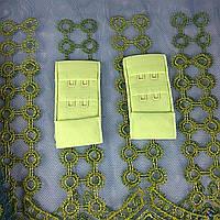Застібка для бюсгальтер тканинна 30мм, Салатовий