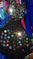 Платье Латина на бретелях юбка воланы 160см