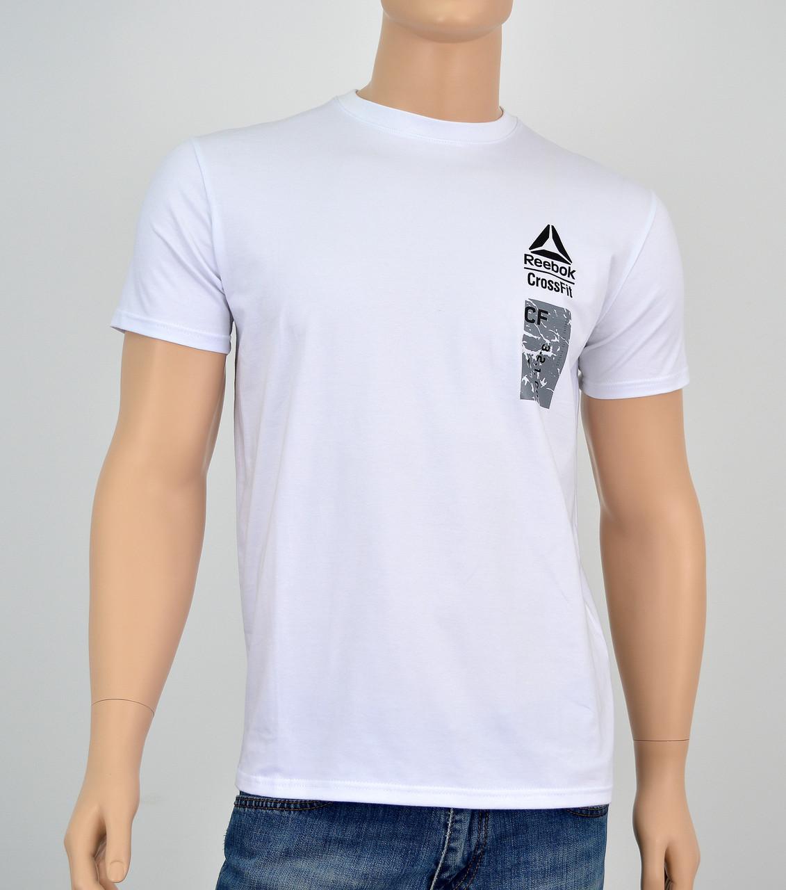 """Мужская футболка """"Премиум"""" Reebok(реплика) Белый"""