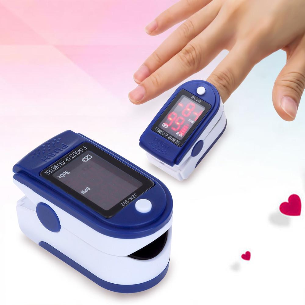 Пульсоксиметр напалечный Pulse Oximeter JZK-302, прибор для измерения уровня кислорода в крови- Новинка