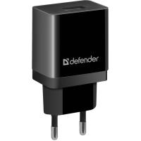 Сетевая зарядка DEFENDER (83572)EPA-10 черный, 1xUSB, 5V/2.1А, пакет