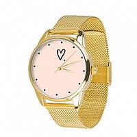 Часы Ziz Сердечко с дополнительным ремешком, ремешок из нержавеющей стали золото SKL22-228883