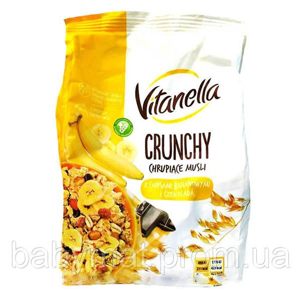 Кранчи с бананом и шоколадом Vitanella Crunchy 350 гр